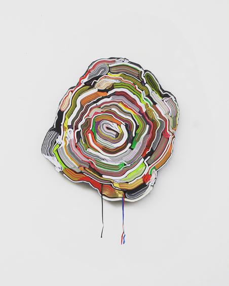 Algemeene Economie, geschn. Bücher, Textilien, Schrauben, Ø 63 x 6 cm, 2013