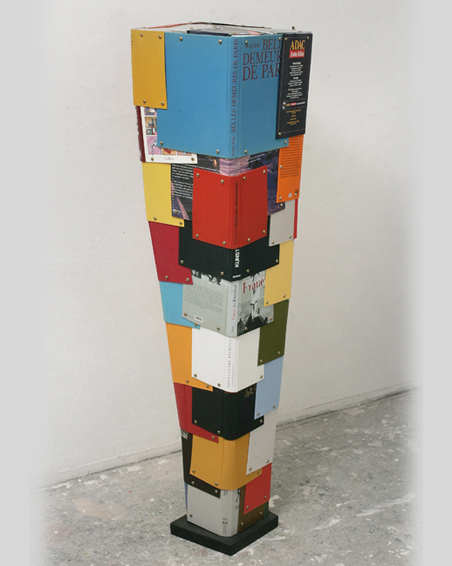 Belles Demeures de Paris, book covers, screws, app. 154 x 17 x 42, 2010
