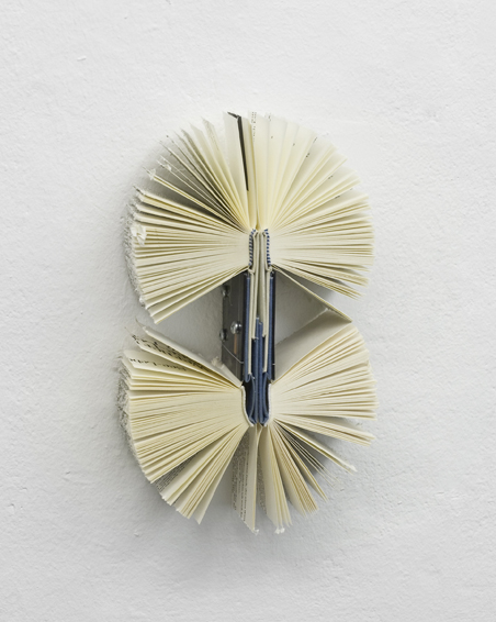 Creapy crawly, cut books, screws, app. 25 x 16 x 6, 2011