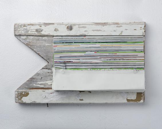 Geo - Das Unbewusste, Geo Zeitschriften, Holz, Leinwand, 41 x 24 x 8, 2006