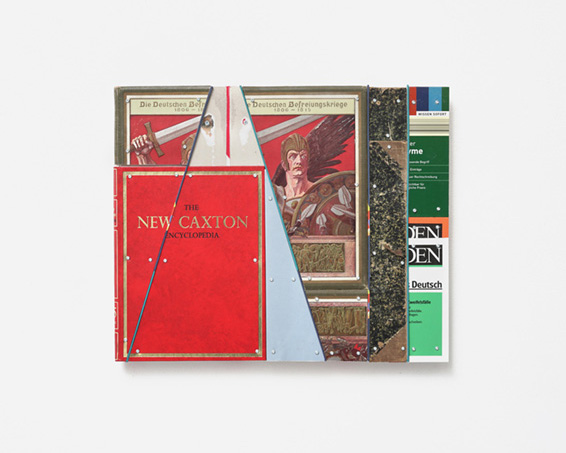 The New Caxton Encyclopedia, books, book covers, screws, app.: 52 x 43 x 4 cm, 2019